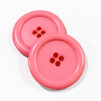"KB-809 Large, 1"" Pink Button, Priced by the Dozen - (SAVE WHEN BUYING 12 DOZEN OR MORE!)"
