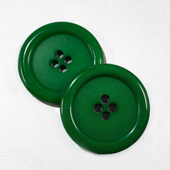"KB-811 Large, 1"" Green Button, Priced by the Dozen - (SAVE WHEN BUYING 12 DOZEN OR MORE!)"