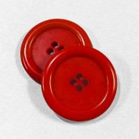 "KB-812 Large, 1"" Red Button, Priced by the Dozen - (SAVE WHEN BUYING 12 DOZEN OR MORE!)"