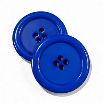 "KB-813 Large, 1"" Royal Blue Button, Priced by the Dozen - (SAVE WHEN BUYING 12 DOZEN OR MORE!)"