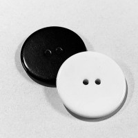 "KB-814 Large, 1-1/8"" Black or White Button, Priced by the Dozen - (SAVE WHEN BUYING 12 DOZEN OR MORE!)"