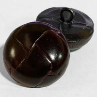 """L-1218 Antique Brown Leather, 1"""" Coat Button"""