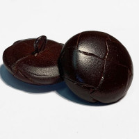 L-1220 Antique Brown Leather Coat and Overcoat Button, 2 Sizes