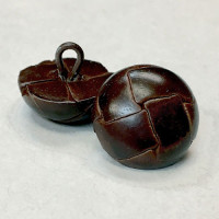 L-1395 Antique Brown Leather Button