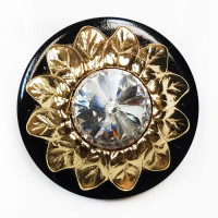 LF-9416  Sunflower Crystal Rivoli  Rhinestones Button