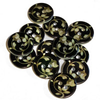 LS-115 - Floral Pattern Rivershell Button, Sold by the Dozen