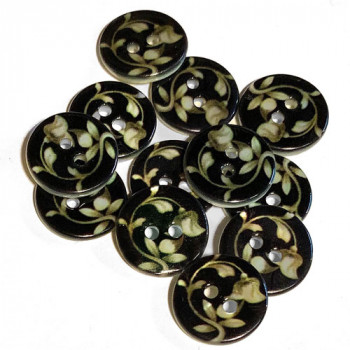 LS-115 - Floral Pattern Rivershell Button, 2 Sizes
