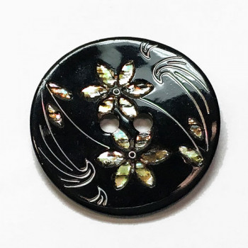 LS-1310-Floral Pattern Shell Button - 4 Sizes