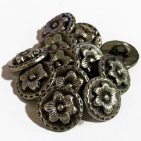 M-027-D Metal Fashion Button, Priced Per Dozen