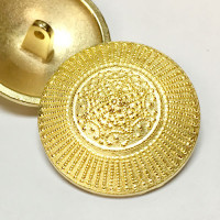 M-039-Matte Gold Metal Fashion Button