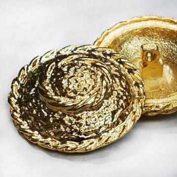 M-042 Gold Metal Fashion Button
