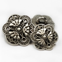 M-045 Metal Fashion Button, 3 Sizes