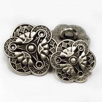 M-045 Metal Fashion Button, 2 Sizes