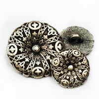 M-049-Metal Fashion Button, 3 Sizes