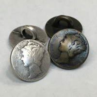 M-098A-Mercury Dime Shirt Button