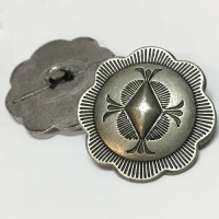 M-1150  Antique Silver Metal Concho Button