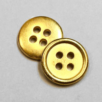 M-1206-Bright Gold 4-Hole Shirt Button