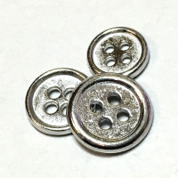 M-1257-D Metal Shirt Button, 3 Sizes - Priced Per Dozen