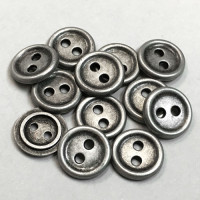 M-1272-D 2-Hole Metal Shirt Button, Priced per Dozen