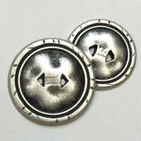 M-1288-Metal Fashion Button, 7/8""