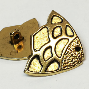 M-1305 - Antique Gold Metal Fish Button