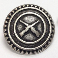 M-1415 - Crossed Rifles Metal Button
