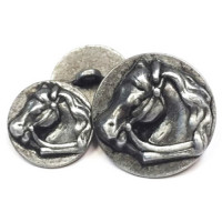M-1431 Horsehead Metal Button - 2 Sizes