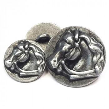 M-1431 Horsehead Metal Button - 2 Sizes
