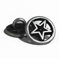 M-159 Star Design Metal Shirt Button, Priced Per Dozen
