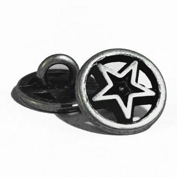 M-159 Star Design Metal Shirt Button, Priced Per Dozen