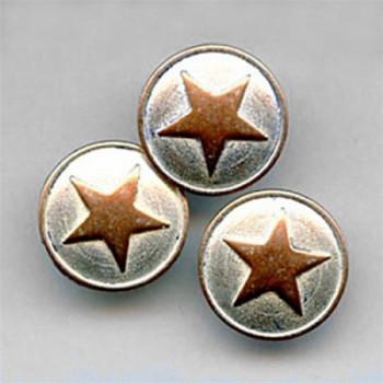 M-178-A Silver-Copper Metal 5-Point Star Button