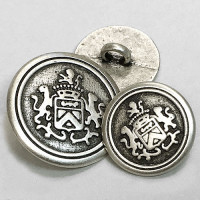 M-1807-Antique Silver Blazer Button, 2 Sizes