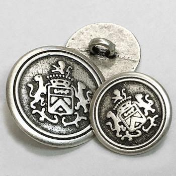 M-1807-Antique Silver Blazer Button, 2 Sizes