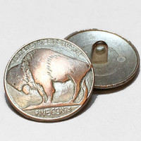 M-186-SC-Buffalo Nickel Metal Button