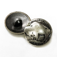 M-188-Buffalo Nickel Metal Button, 11/16""
