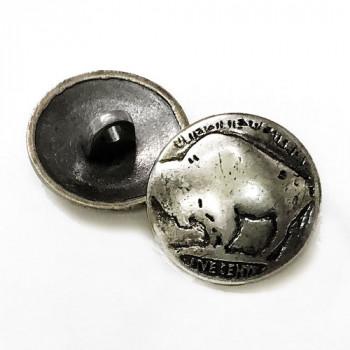 "M-188-Buffalo Nickel Metal Button, 11/16"""