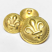 M-1880 Gold Fleur de Lis Button - 2 Sizes