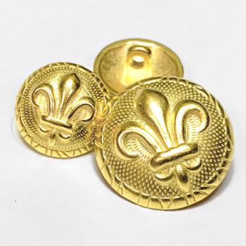 M-1880 Gold Fleur de Lis Button - 2 Sizes