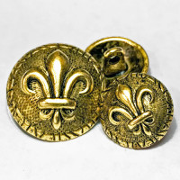 M-1881 Fleur de Lis Button - 2 Sizes