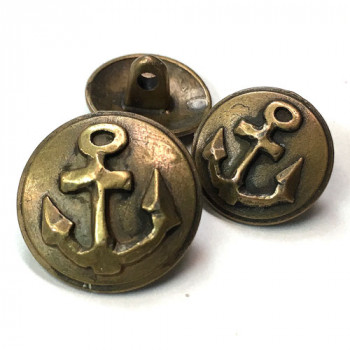 M-2006-Antique Gold Anchor Button, 2 Sizes