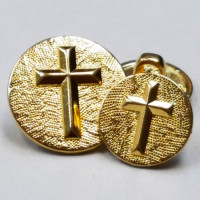 "M-2807-Gold Cross Button - 5/8"" Only"
