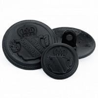 M-3211MB Black Blazer Button - 2 Sizes