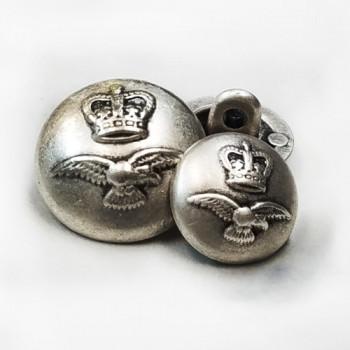 M-3305-Antique Silver Coat Button, 3 Sizes