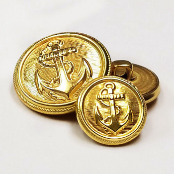 M-3306 Gold Anchor Blazer and Coat Button - 4 sizes