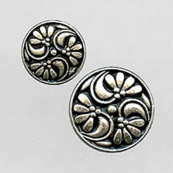 M-4412-D Metal Fashion Button, Priced By the Dozen - 2 Sizes