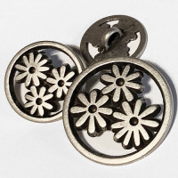 M-7826-Metal Fashion Button, 3 Sizes