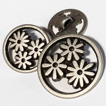 M-7826-Metal Fashion Button, 3 Sizes