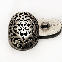 M-7838 - Oval Metal Fashion Button, 3 Sizes