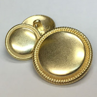 M-7843-Matte Gold Metal Shank Button