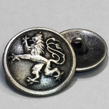 M-7908 Antique Silver Metal Button with Griffin Design, 2 Sizes